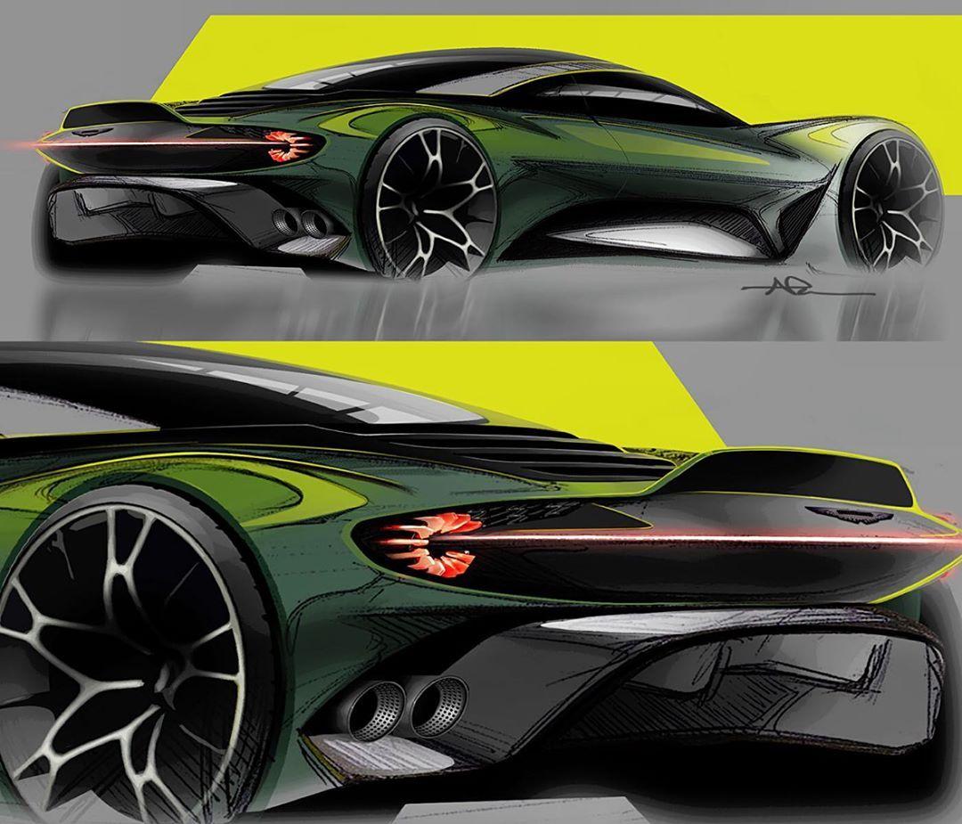 """Aston Martin Sketch: NIKO PESA On Instagram: """"Sketches + Zagato DNA"""