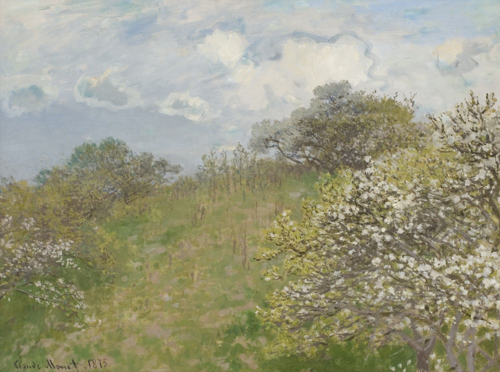 Monet Pintor Cuadros Printemps Claude Monet 1873 Johannesburg Art Gallery