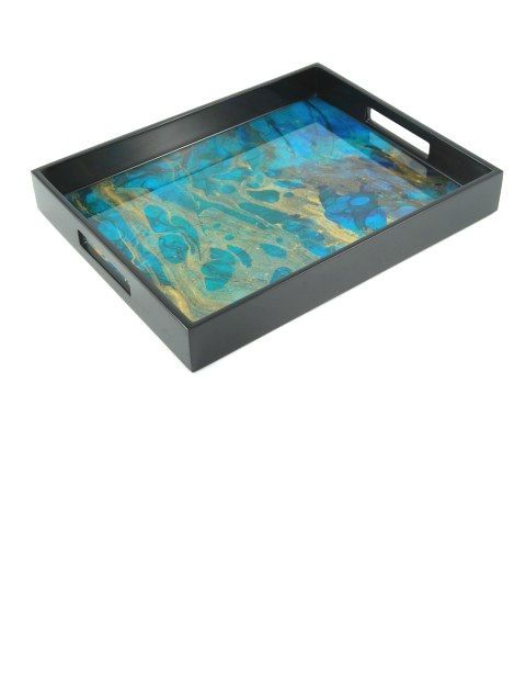 Luxury Limited Production Trays 15 Ocean Blue High Gloss Tray