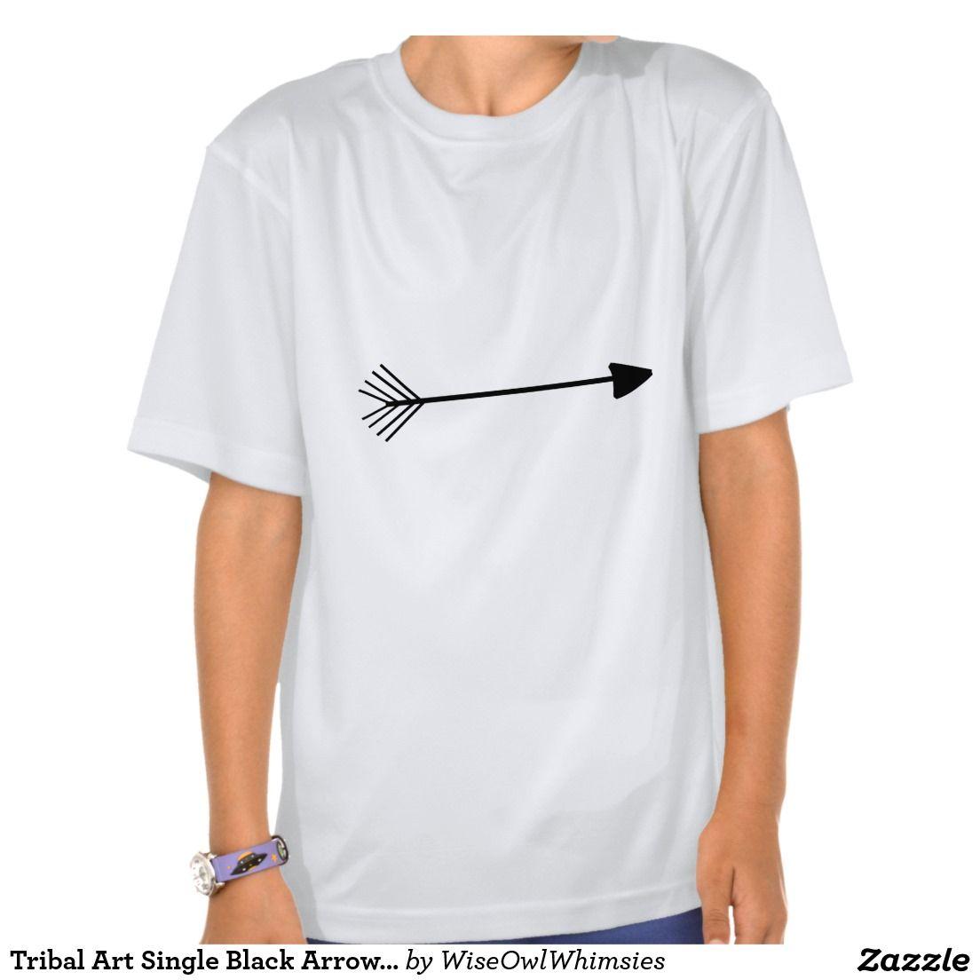 Tribal Art Single Black Arrow Trendy Designs T-shirt, for Girls