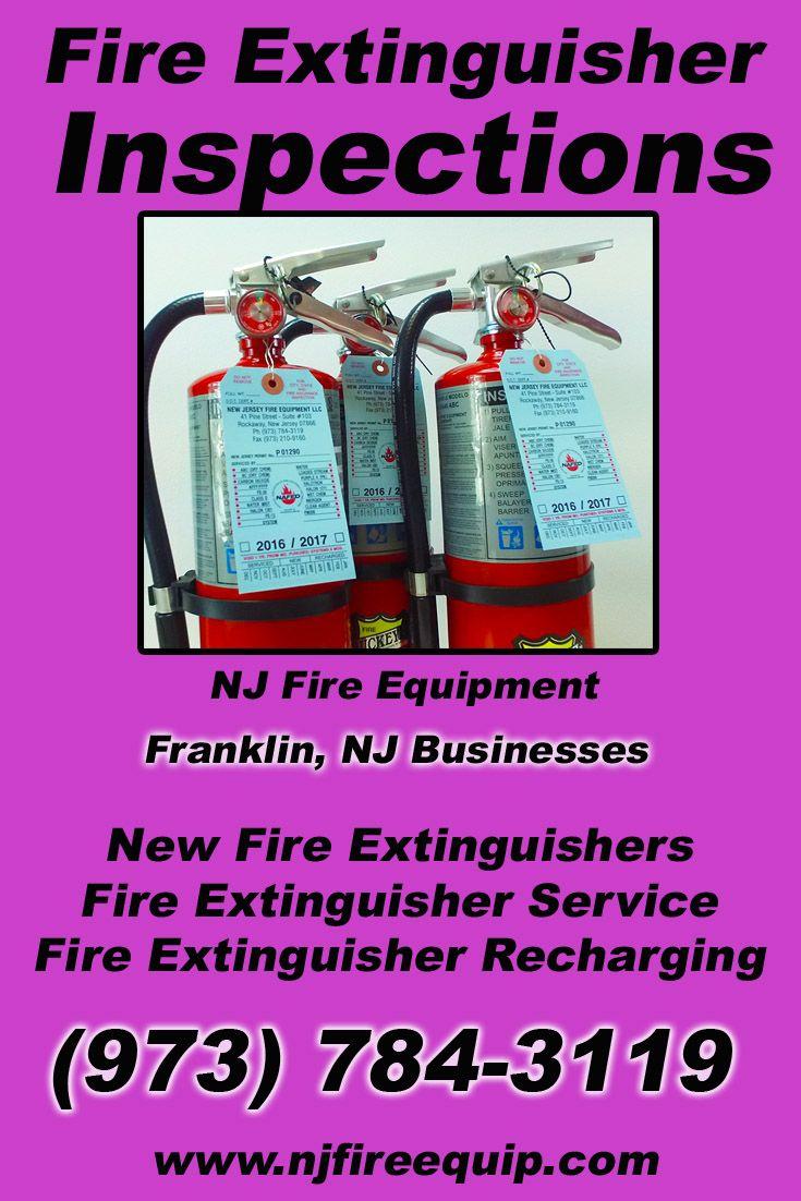 Fire extinguisher inspections franklin nj 973 784