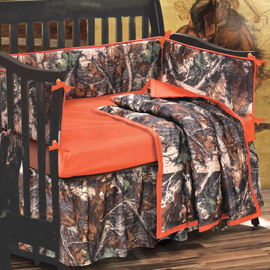 More Boys Max 4 Camo  Bedding Crib Set Comforter Bumper Pad Sheet