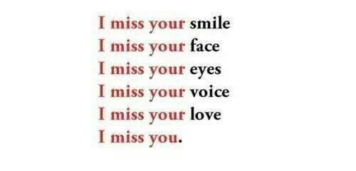 I Miss Your Smile I Miss Your Face I Miss Your Eyes I Miss Your