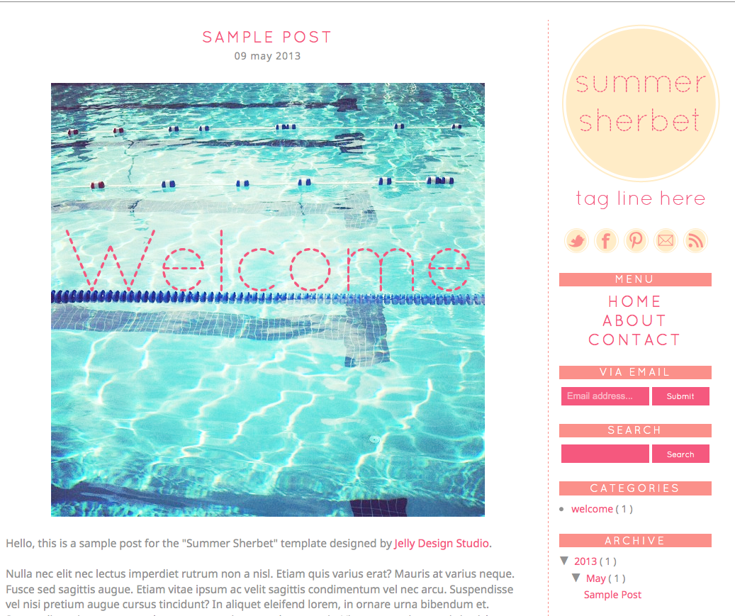 Where to Get Cool Blogger Templates for Fashion Bloggers: Jelly ...