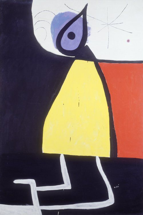 "Joan Miró ""Mujer en la noche"", 1973"