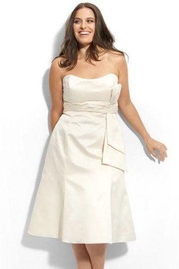 Robe meringue bustier simple courte pour femme ronde
