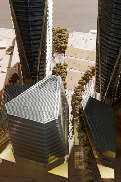 Architectural Model | Hermitage Plaza | Foster and Partners