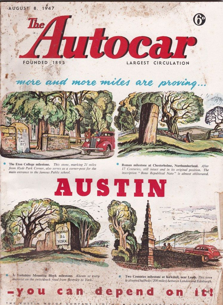 August 1947 issues 70th birthday gift for dad autocar