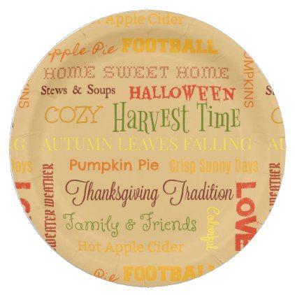sc 1 st  Pinterest & Autumn Phrases Paper Plate