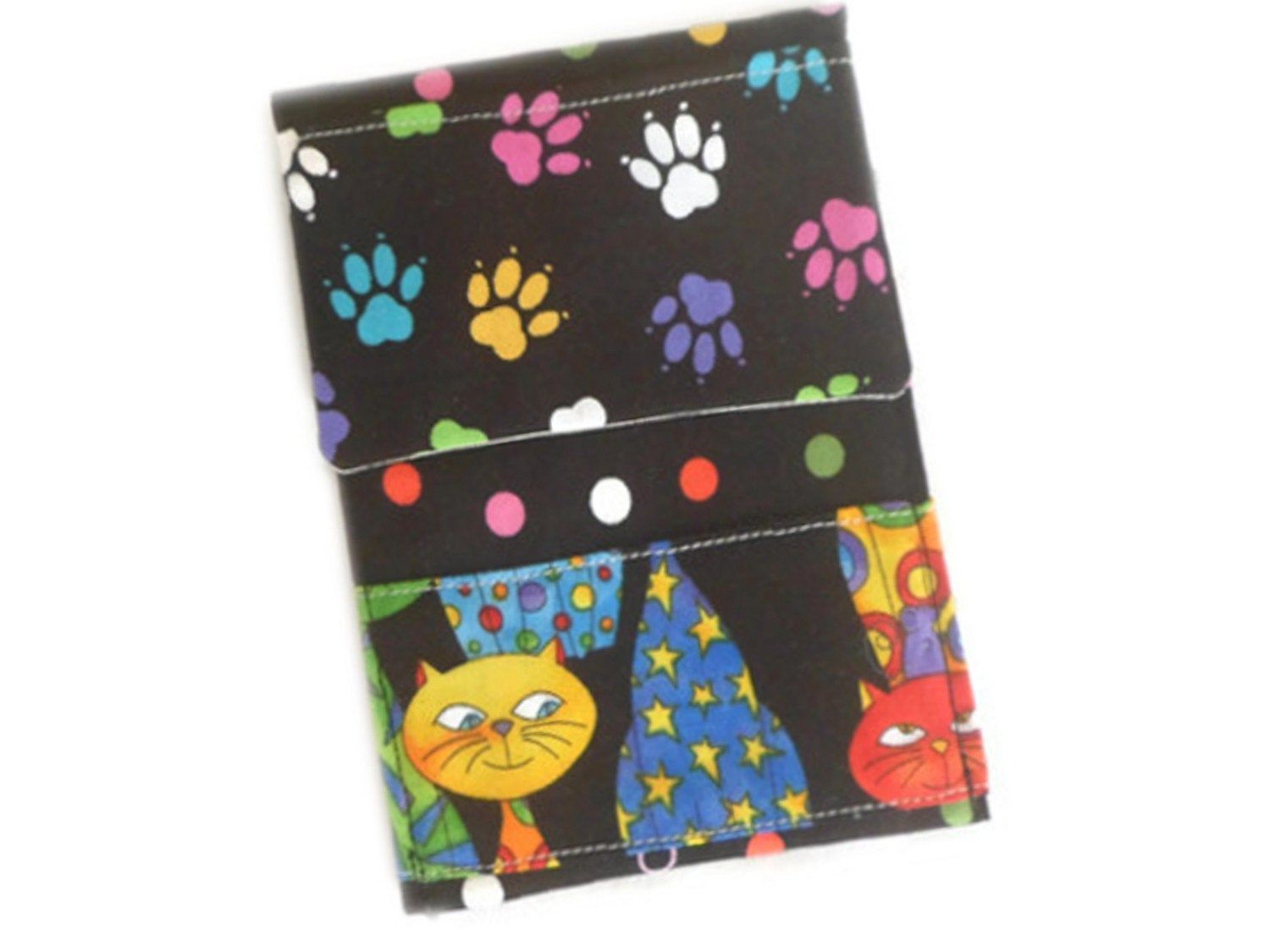 Small Bag Fabric Printed Cats For Gift Wrapping Mini Pouch Ecological Storage Pouch For Travel Pouch For Handbag Pochette Tissus Emballer Cadeau Petit Sac