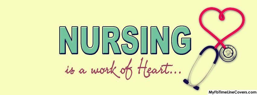 Nursing is a work of heart Facebook timeline profile cover image A cool FB timeline banner
