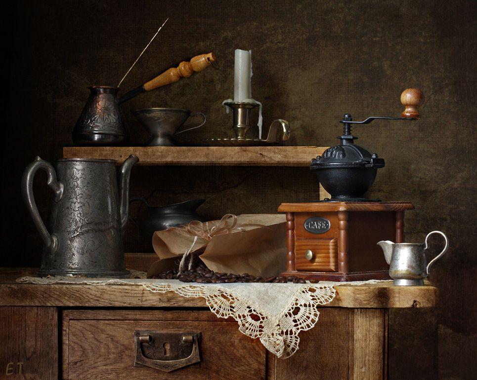 фотостудии естественным натюрморт со старинными посудой фото применением технического анализа