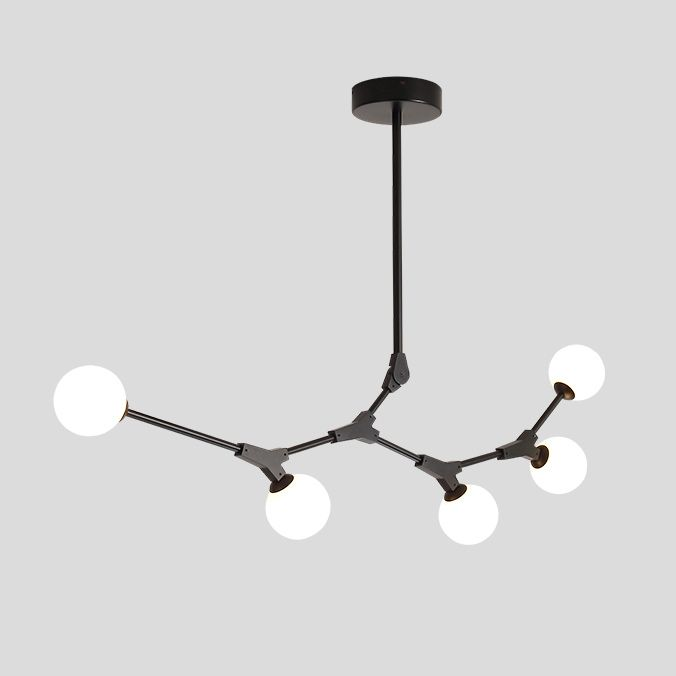 Contemporary Organic Branching 8 Light Large Kitchen