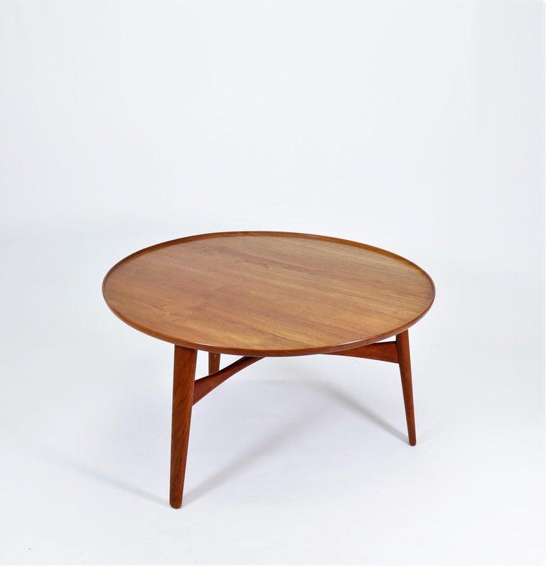 Scandinavian Modern Coffee Table in Teakwood by Ejner