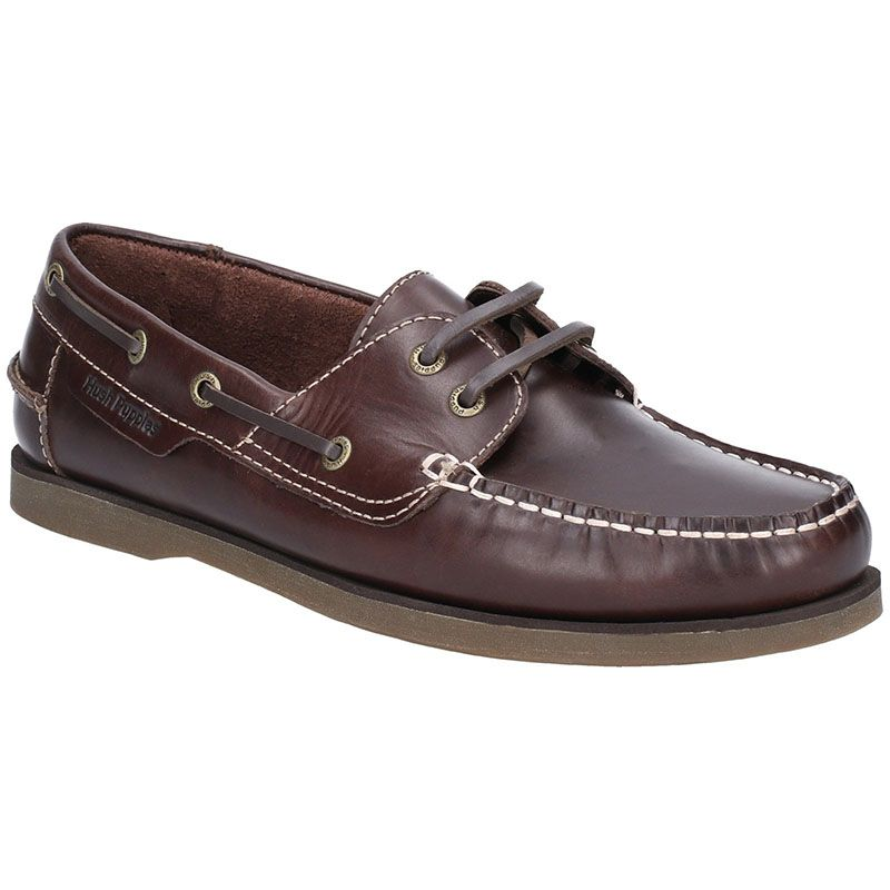 Henry Brown Boat Fashion Hush Puppies Comfortable Shoes