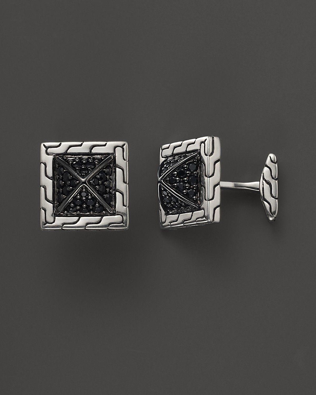 Sterling Silver Pyramid Style Cufflinks