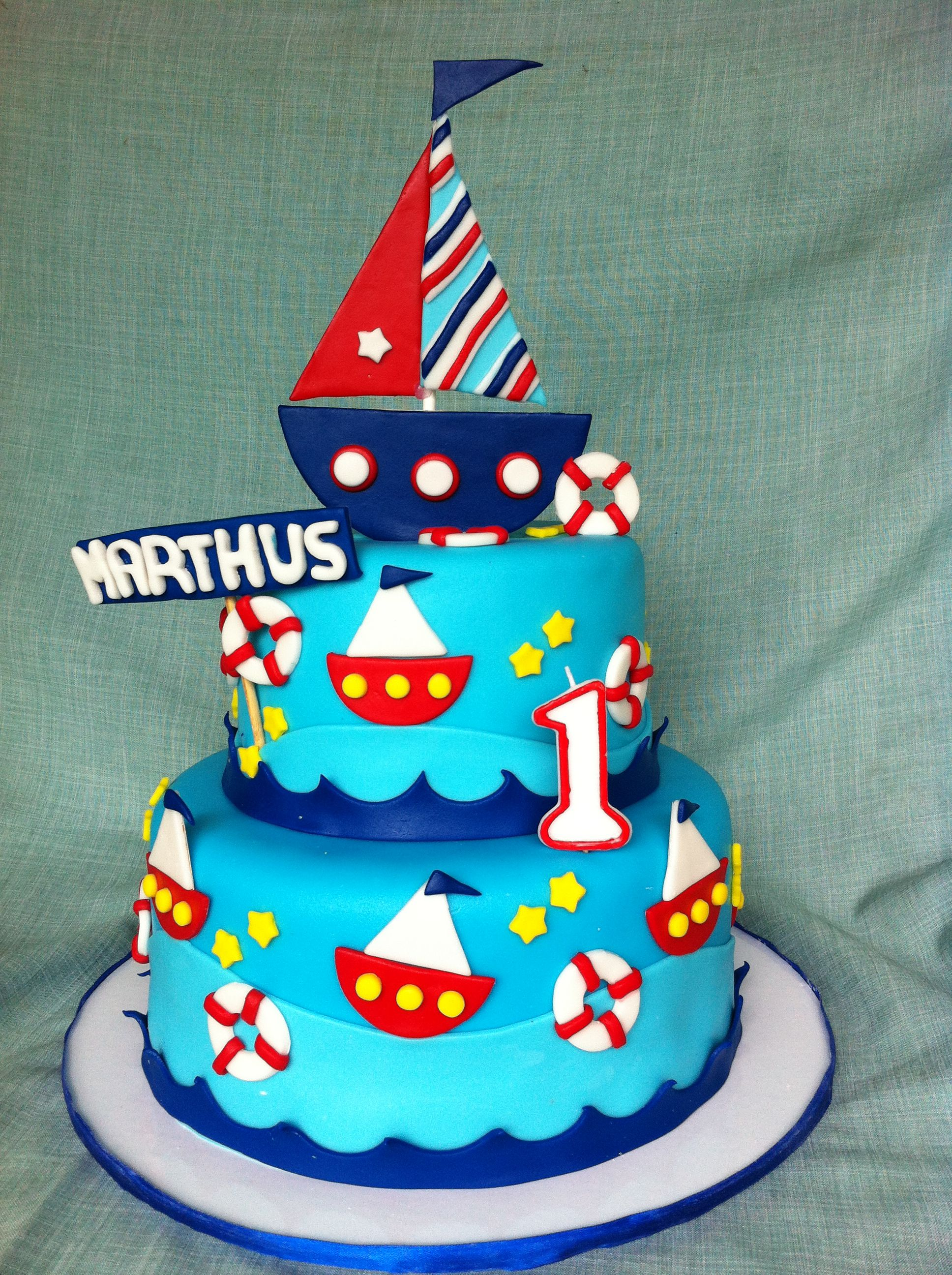 Sailor Themed Birthday Cake By Sweetmills