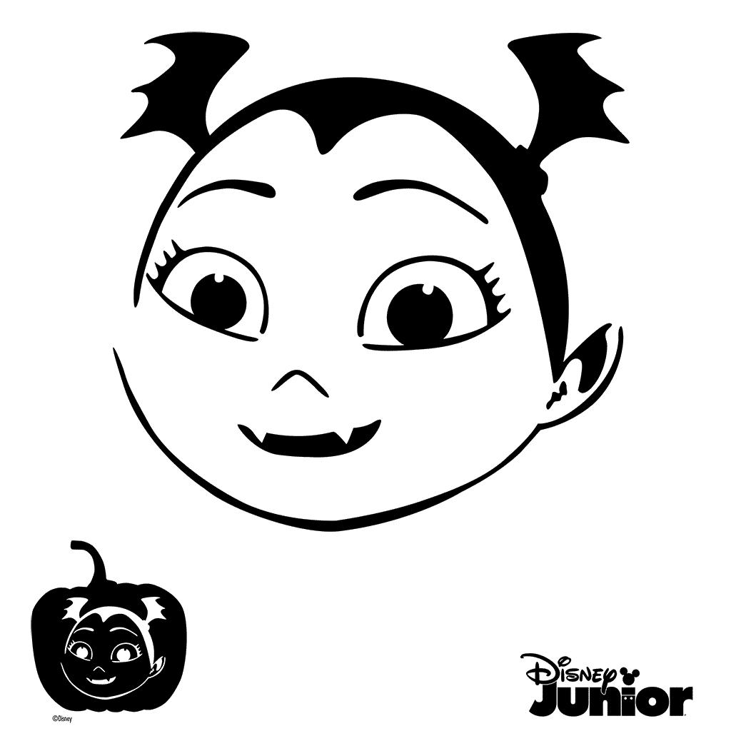 Pumpkin Stencils Vampirina Cutout Vampirina Coloring Page