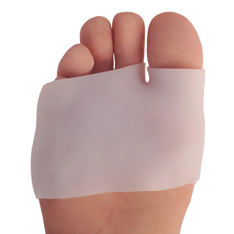 Silicone Half Toe Sleeve Metatarsal Cushion Ball Foot Pads-Bunion /& Forefoot PF