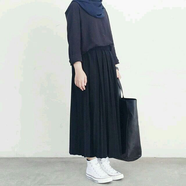 Outfit Hijab Rok Casual ` Outfit Hijab Rok -   12 style Casual rok ideas
