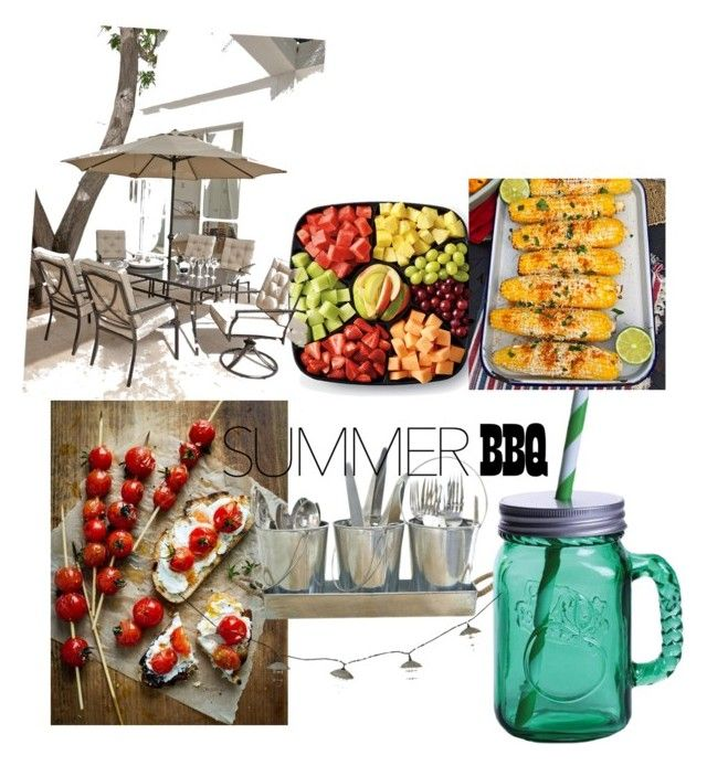 """""""summer BBQ"""" by taylorheilman ❤ liked on Polyvore featuring interior, interiors, interior design, home, home decor, interior decorating, Fitz and Floyd and summerbbq"""