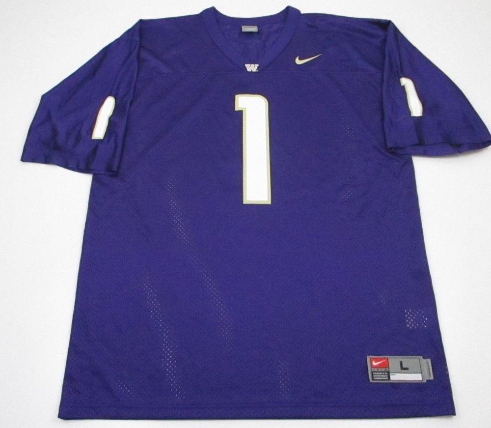 5f1032b94615f Nike L large WASHINGTON HUSKIES NCAA Football jersey Warren Moon 1 purple   Nike  WashingtonHuskies