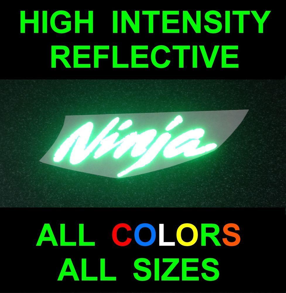 2x Customtaylor33 Hid Reflective Ninja Decals Stickers Kawasaki Zx6r Zx9r Zx10r High Intensity Reflective Kawasaki Zx6r