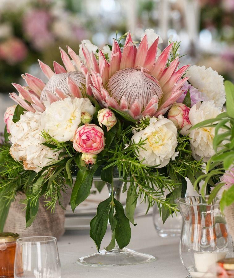 Protea Wedding Flowers: Romantic Flower-Filled Tuscan Wedding