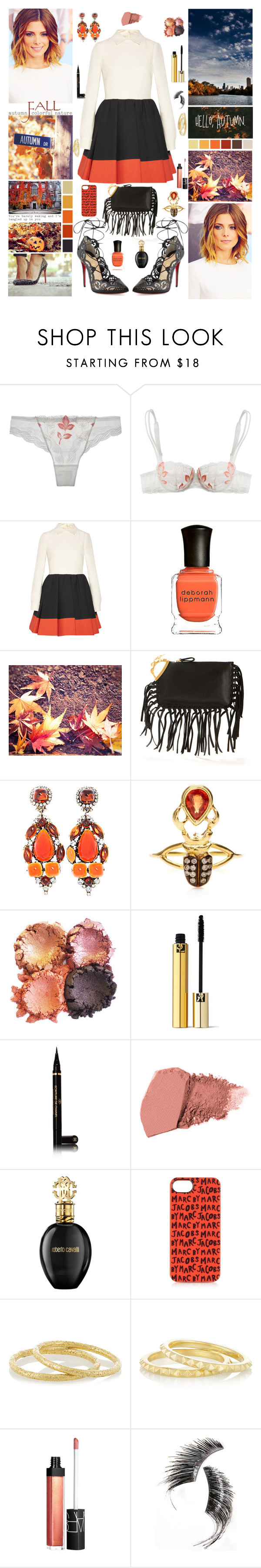 """``try a new thing, and let's spark a new flame"" by sjorcdanw ❤ liked on Polyvore featuring Simone Perele, Valentino, Deborah Lippmann, Christian Louboutin, Kenneth Jay Lane, Daniela Villegas, Yves Saint Laurent, Chanel, NARS Cosmetics and Roberto Cavalli"