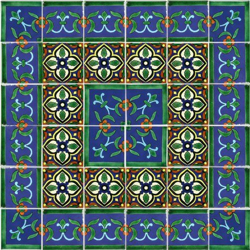 Decorative Mexican Tiles Impressive Mexican Style Mural  Cancun  Patio Wall Tile Murals And Mexican Review