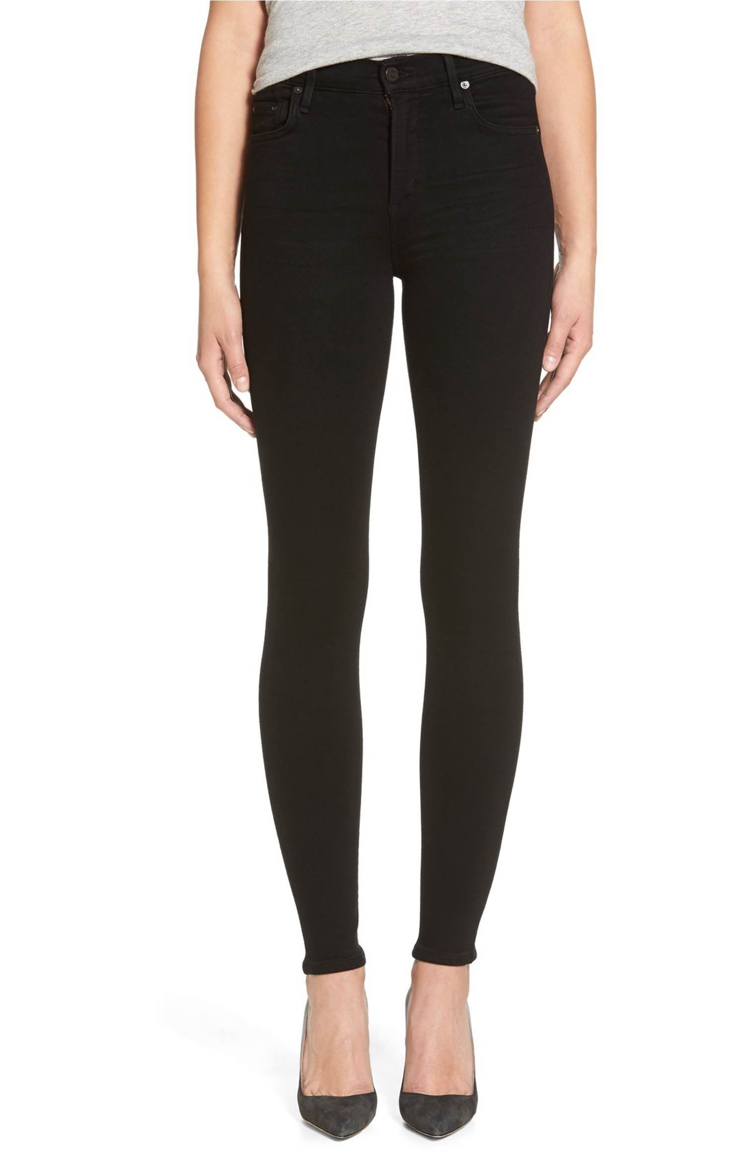 Citizens of Humanity Rocket High Waist Skinny Jeans (Black)