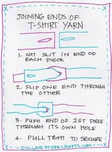 How to join T-Shirt yarn with out knots!