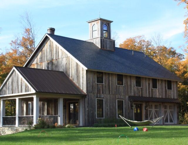 Rustic house design ideas the perfect time to experiment for Modern pole barn homes