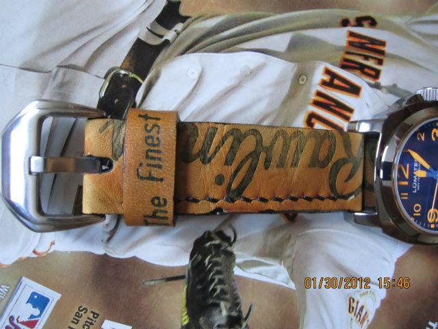 Handmade Strap Out Of Vintage Baseball Glove Leather Watch Strap Vintage Baseball Gloves Baseball Glove