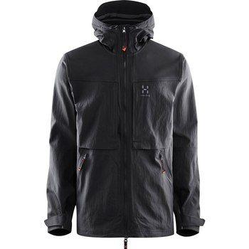 Haglofs Rugged Fjell Jacket 2c5 True Black Mens Jackets Jackets Shell Jacket