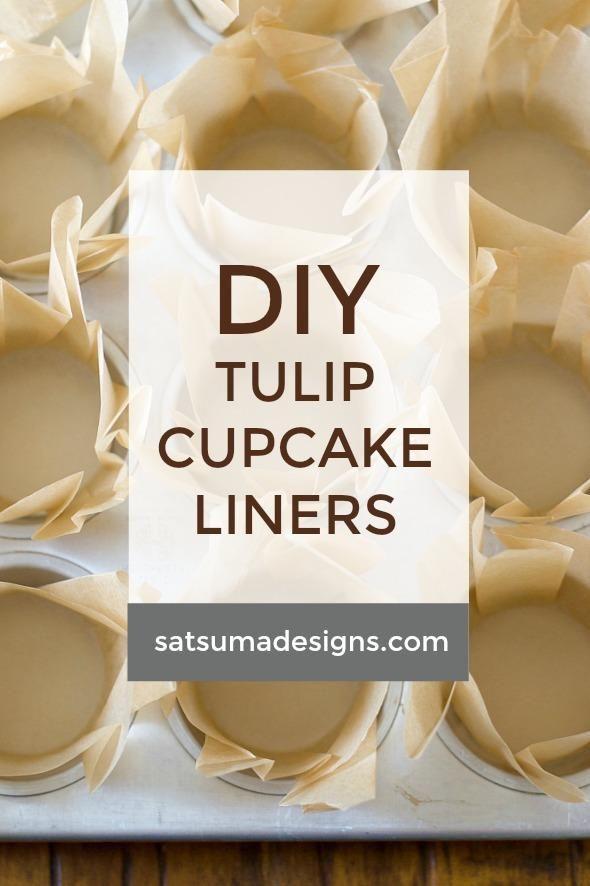 Diy Tulip Cupcake Liners Cupcake Liners Diy