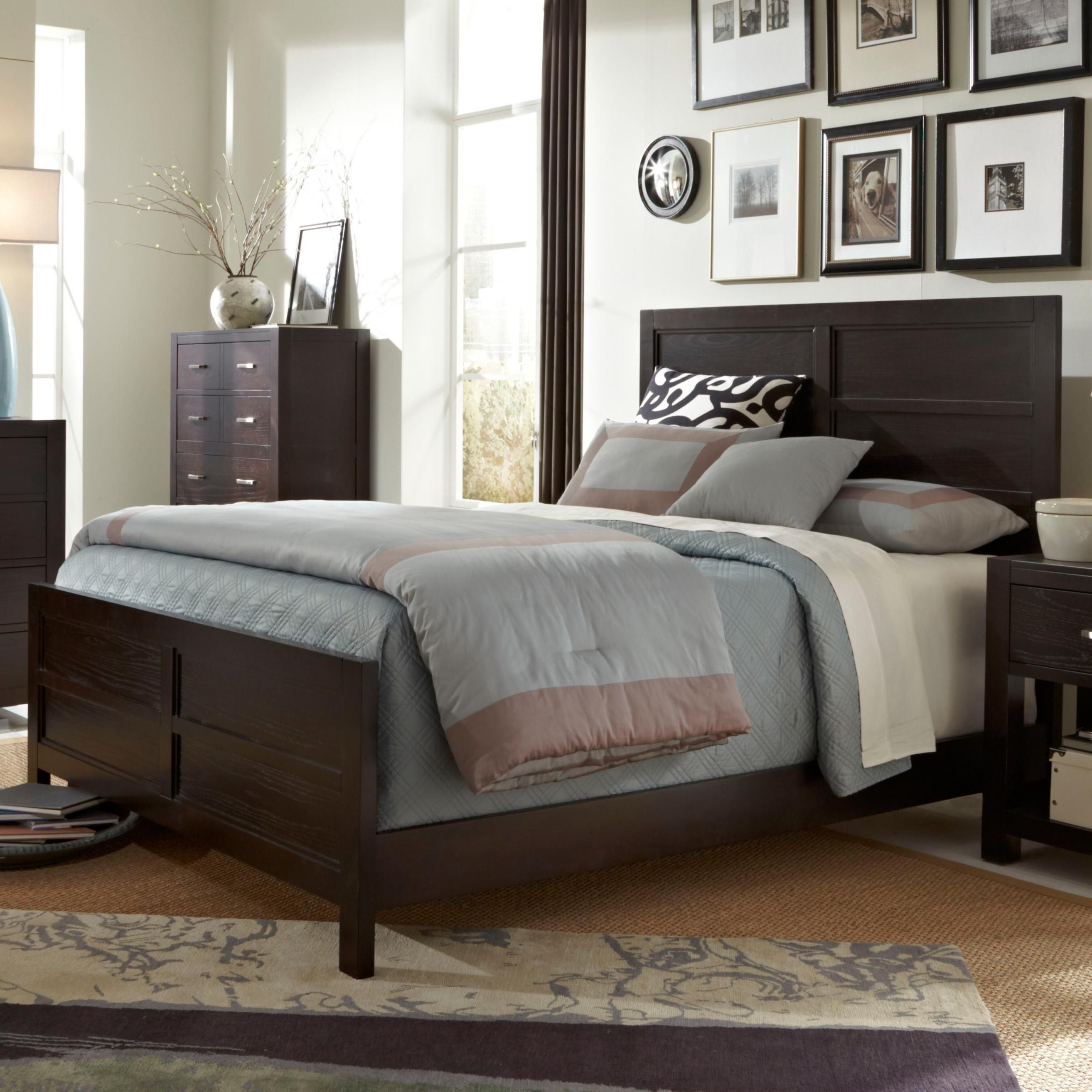 primo vista queen panel bedbroyhill furniture with