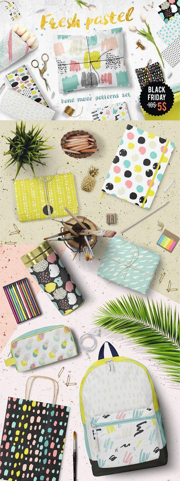 Fresh Pastel Patterns by Bosotochka❤️Art on @creativemarket #pastelpattern