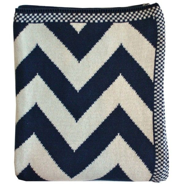 Chevron Knit Throw Blanket Navy Liked On Polyvore Featuring Home Magnificent Navy Cotton Throw Blanket