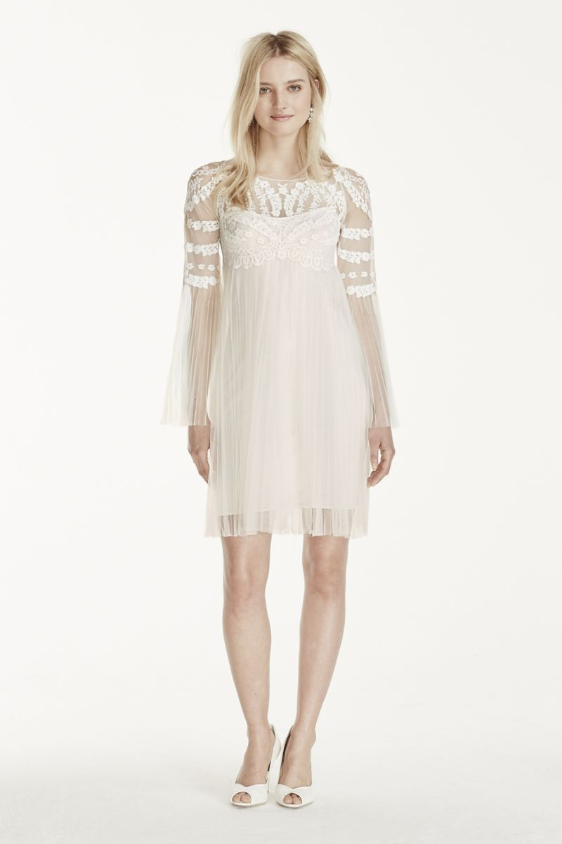 Short tulle skirt with long sleeves dress style kp special