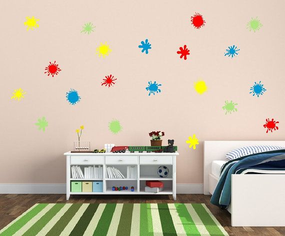 Paint Splatters Decals | Vinyl Wall Decals | Kids Room Decals ...