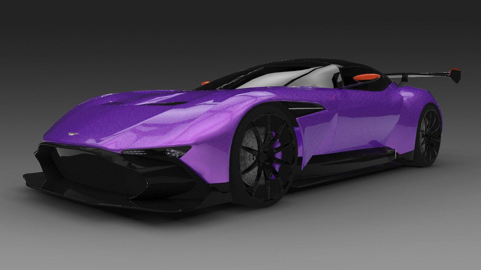 2016 Aston Martin Vulcan 3d Model Obj 3ds Fbx C4d Dae Aston Martin Vulcan Aston Martin Super Cars