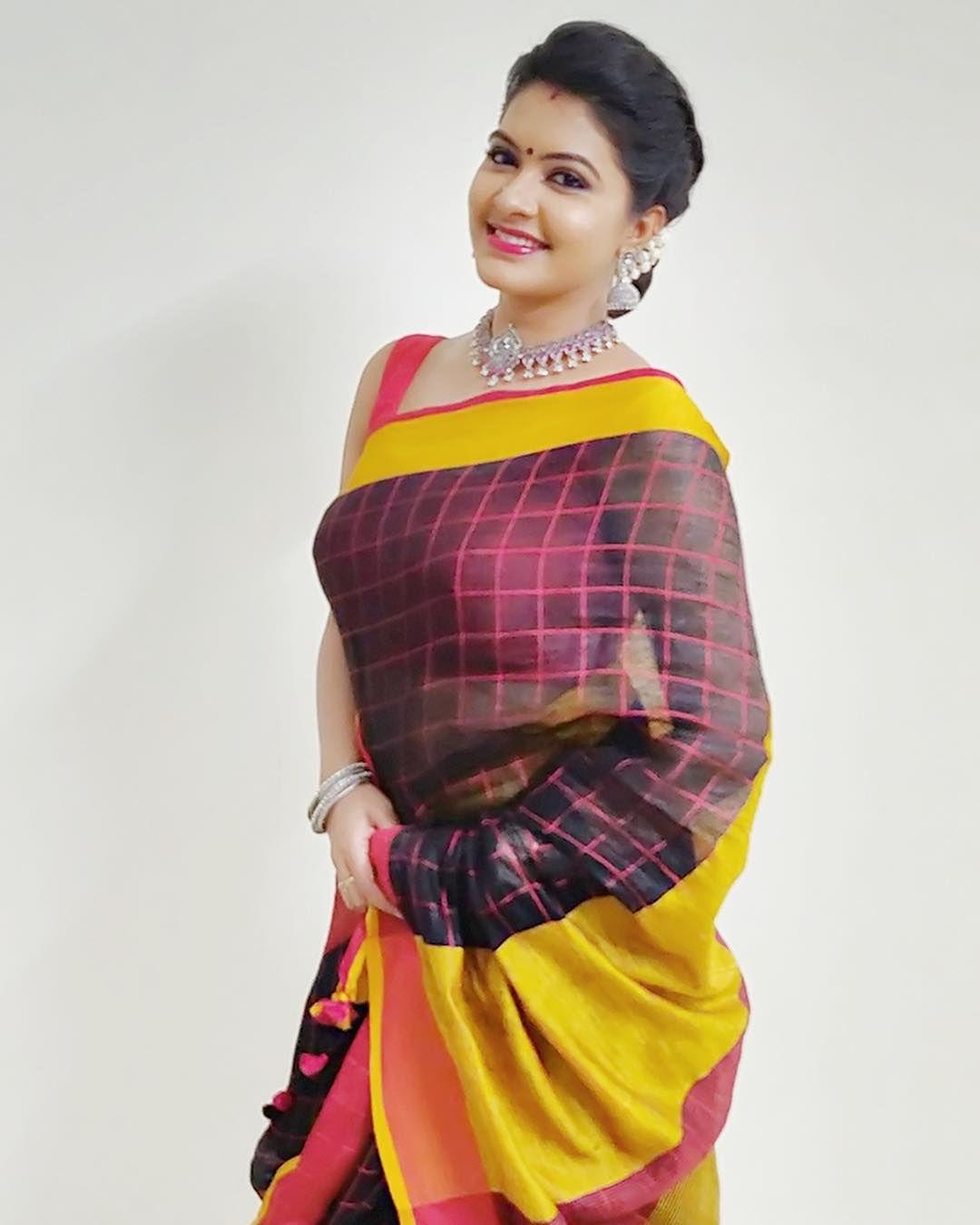 Rachitha Dinesh Latest Designer Saree Stills  Sexy Bhabhi