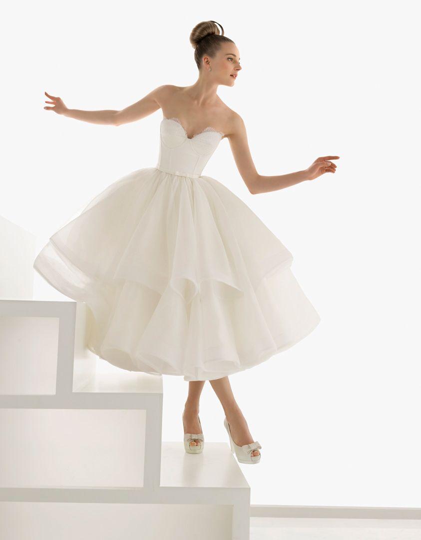 Rosa clara erudito dress pinterest tea length wedding