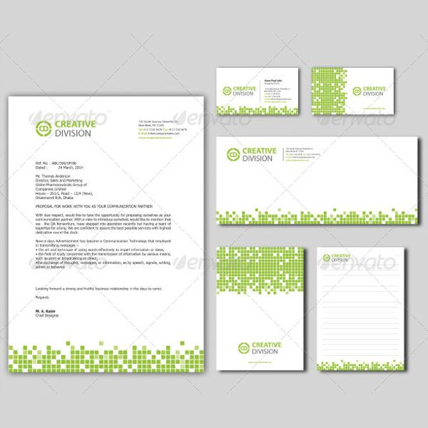 Teal Yellow Gradient Border Professional Letterhead Stellar - free business letterhead templates download