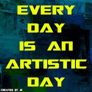 Mijn T-shirt-prints: (Every Day Is) An Artistic Day