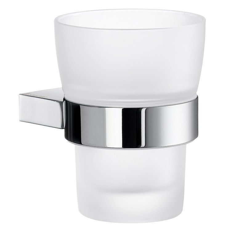 Air Wall Mount Tumbler With Holder Frosted Glass Double Towel