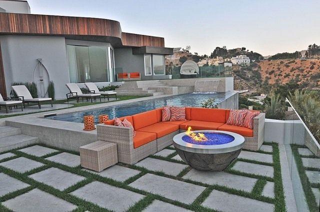 Betonplatten verlegen-pflegeleicht und robust-Sitzgelegenheiten - gehwegplatten verlegen selber machen