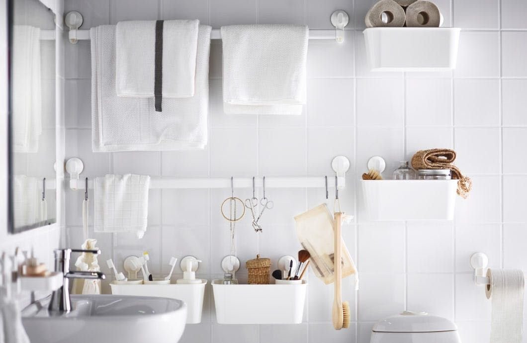 No More Small Bathroom Woes 6 Places To Add Shelving For More Storage Rental Bathroom Small Bathroom