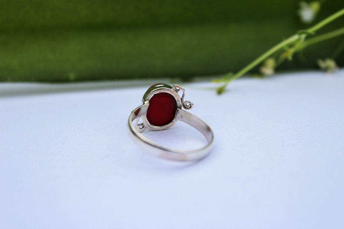 BEAUTIFUL HAND MADE STERLING SILVER PEACE RING